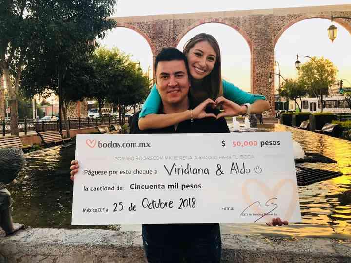 Itzel Viridiana y Aldo, ganadores del sorteo, ¡con todo listo para casarse!