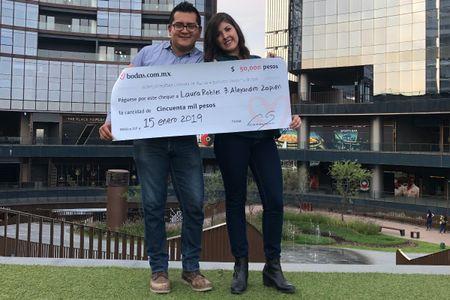 Alejandro y Laura, recién casados ¡y ganadores de nuestro sorteo!