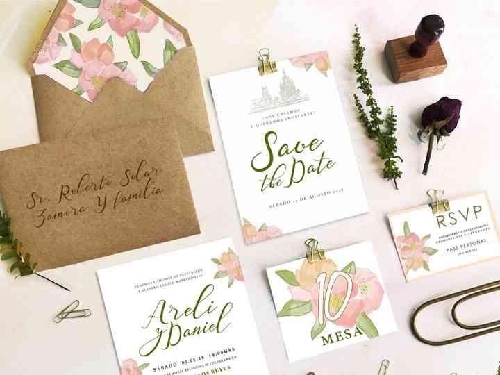 """Invitaciones para bodas en primavera, """"sí"""" a que florezca el amor"""
