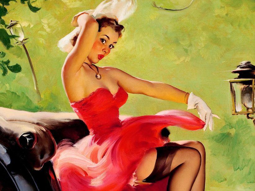 7d7bd1779a Las ilustraciones de Gil Elvgren con uno de los referentes más conocidos de  este estilo. Sus escenas coquetas y desenfadadas tan representativas se  deben a ...