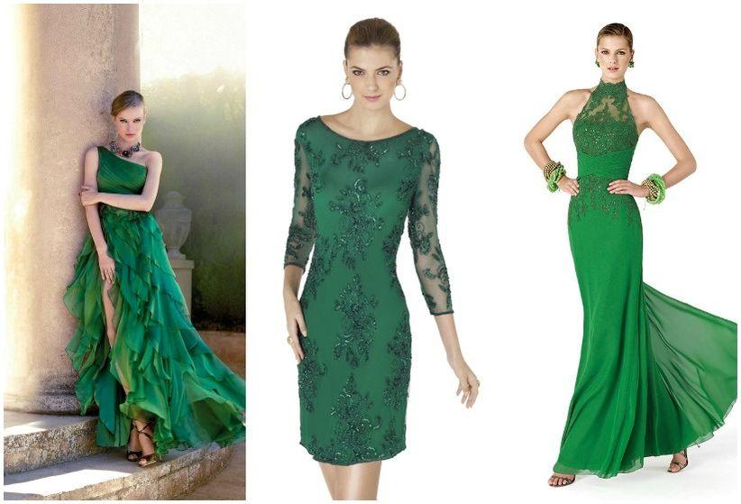 12 vestidos verdes para un look de invitada - bodas.com.mx