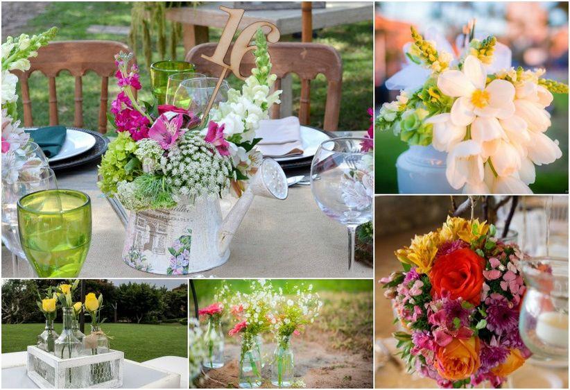 20 decoraciones para las mesas del banquete for Decoracion de pared para novios