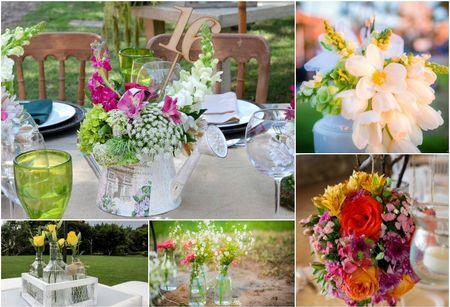 20 decoraciones para las mesas del banquete