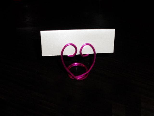 Soportes de corazón para tus mesas de boda