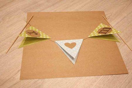 Haz tu topper de banderines para el pastel de boda