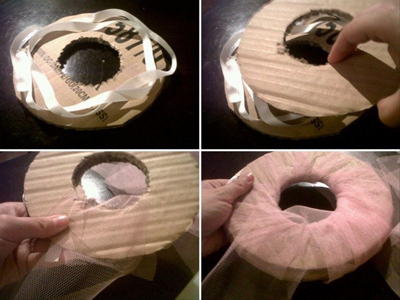 pompones de tul para decorar tu boda. Black Bedroom Furniture Sets. Home Design Ideas