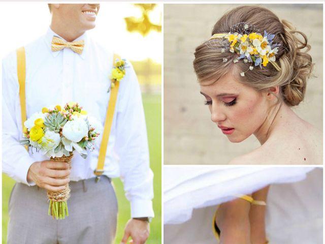 Tu boda en amarillo, gris y blanco