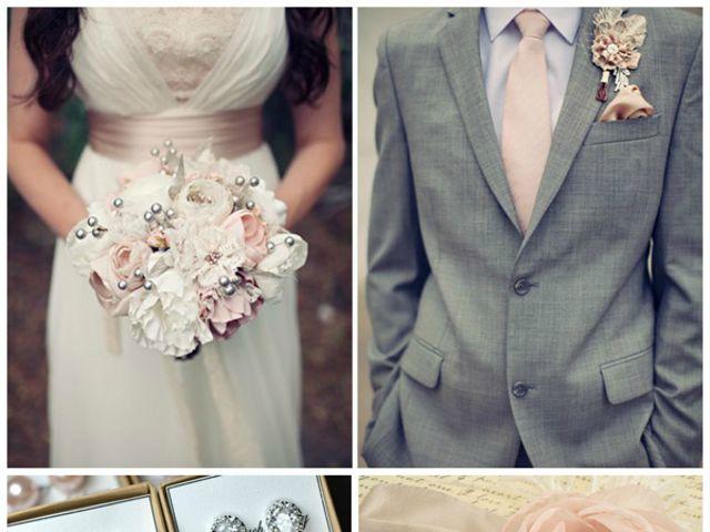 Tu boda en gris, rosa y marfil