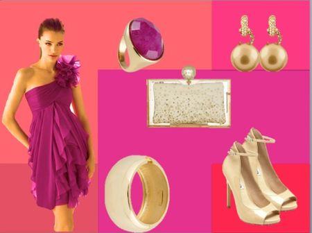 Look invitada pink & gold