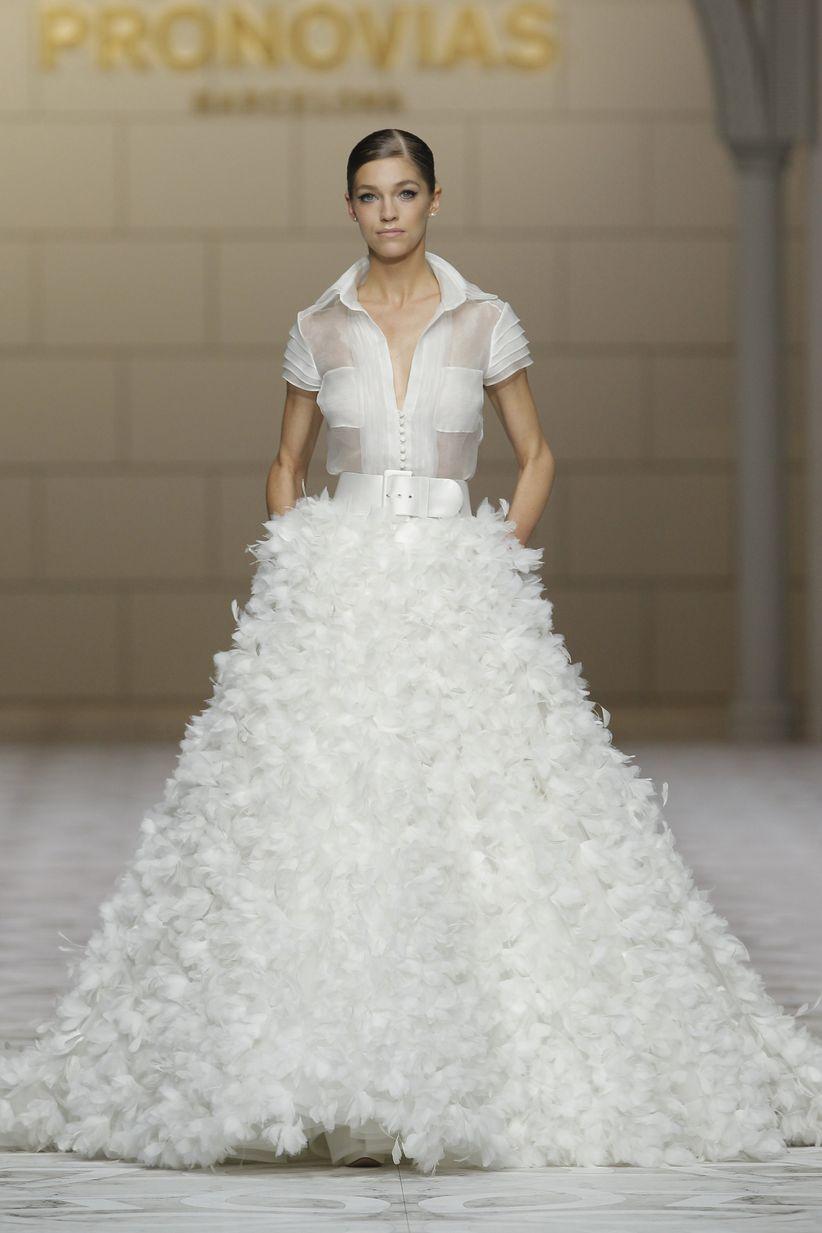 vestido de novia falda y blusa