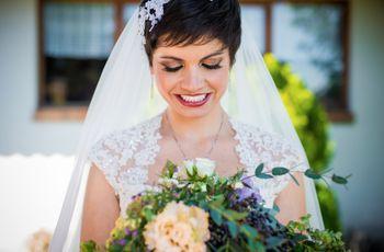 Peinados de novia con cabello corto