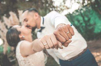 Ideas originales para fotografiar los anillos de boda