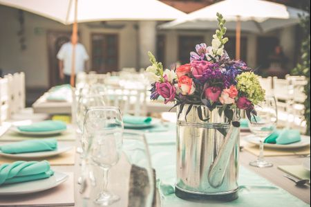18 ideas de centros de mesa eco-rustic