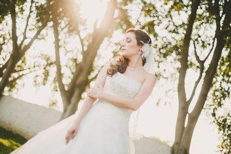 10 tocados románticos de 10 novias reales