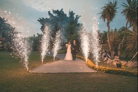 Juegos pirot�cnicos en tu boda