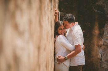 Tradición sazonada con adrenalina: la boda de Luis y Elena