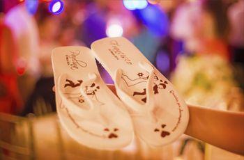 Pantuflas y sandalias para regalar en la boda