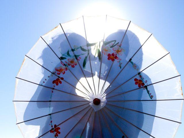 Sombrillas y abanicos para la boda