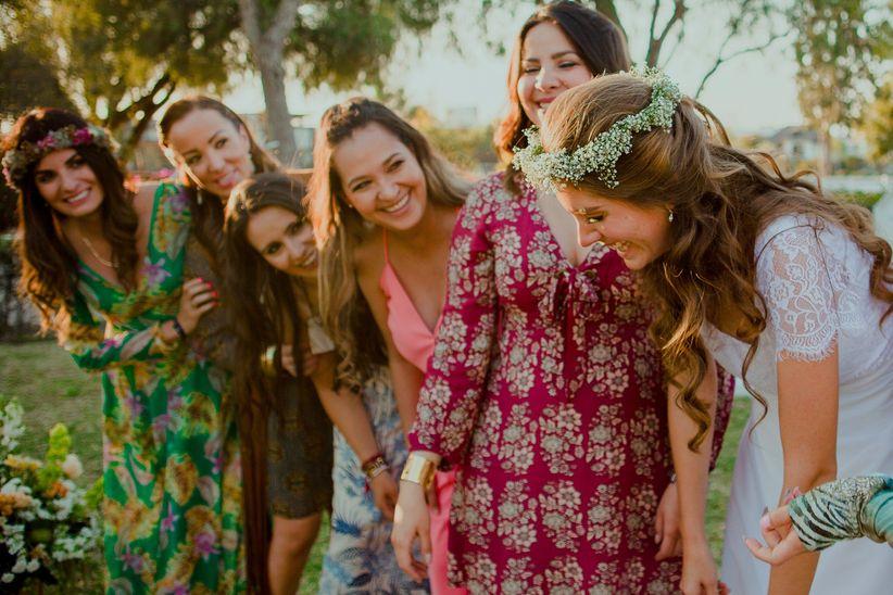 Vestidos para boda en una quinta