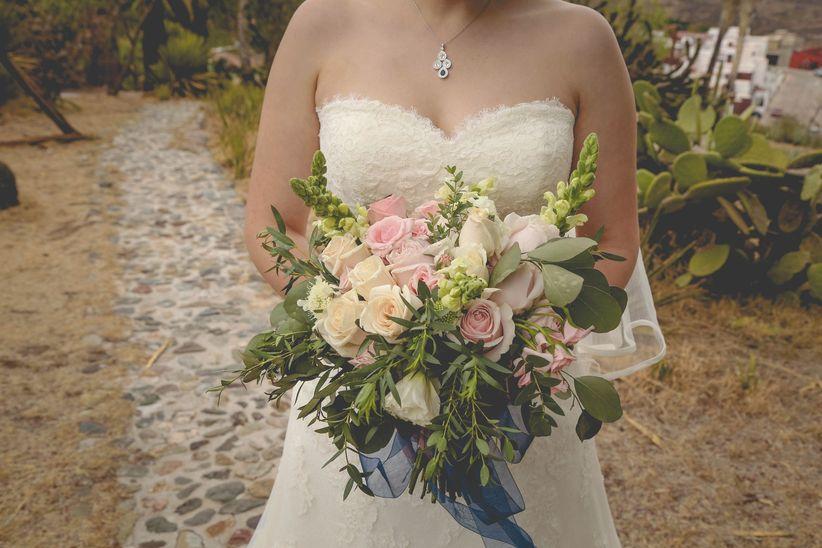 90 ramos de novia naturales, el jardín en tus manos - bodas.com.mx