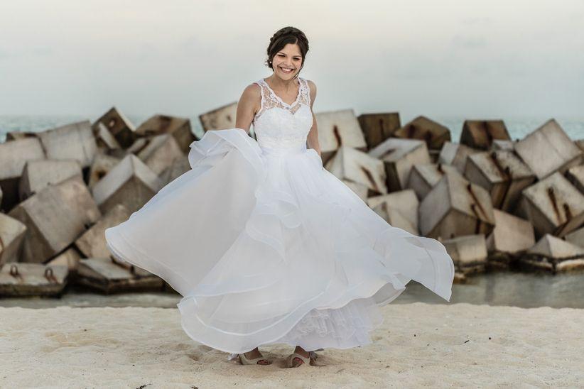 trucos para transportar el vestido de novia ¡y que resulte ileso