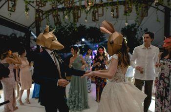 ¿Fiesta de máscaras en la boda? Descubran cuál es su estilo