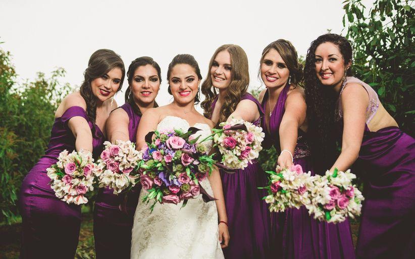 94639fa0b Cuántas damas de honor puedes tener en tu boda  - bodas.com.mx