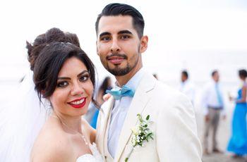 Azul como el mar: así fue la boda de Carlos y Ahtziri