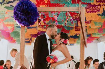 4 claves para incluir pompones en la decoración de la boda