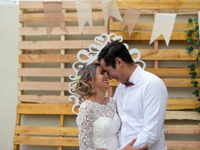 Vintage y hogareña, así fue la boda de Erick y Elena