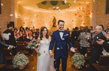¡Fuera dudas! Este es el orden de entrada y salida de una boda católica