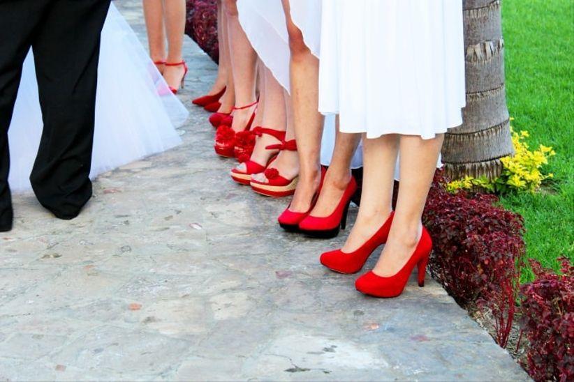 zapatos para las damas de honor - bodas.mx