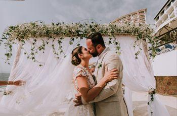 ¡Un jardín en la arena! Cómo elegir las flores para una boda en la playa