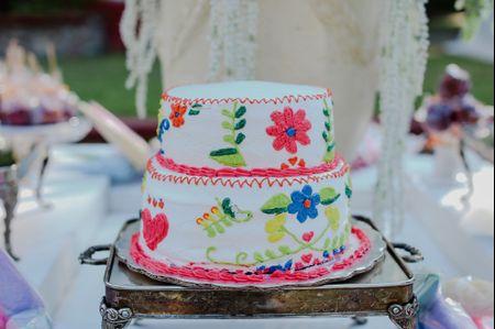 Pasteles de boda muy vivos al estilo de Día de Muertos