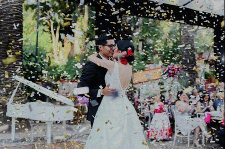 La boda de Abdón y Marissa, un estallido de color y buen gusto