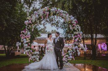 25 aros de flores para boda ¡para un romance redondo!