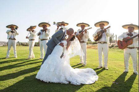 El mariachi en la boda