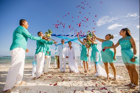 Decoraci�n de una boda en la playa
