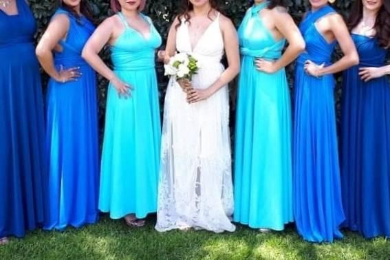 Vestidos Damas de Honor Modela Bella 17