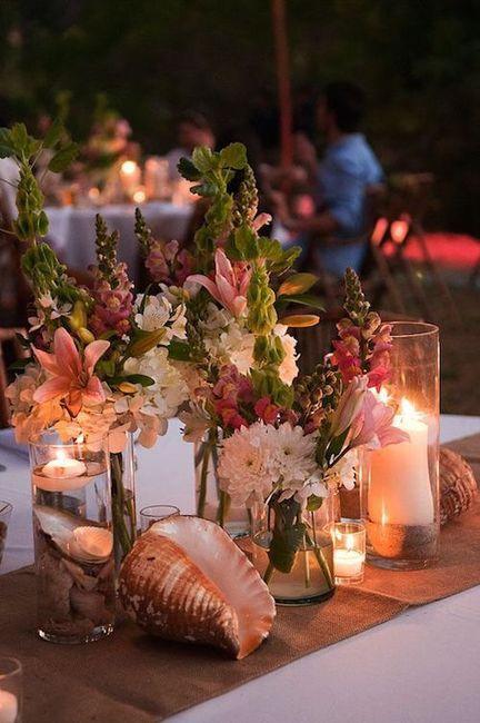 Centros de mesa para boda en playa 1