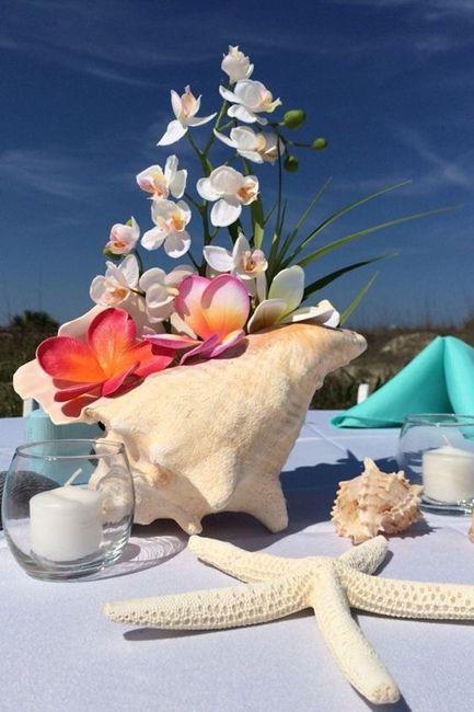 Centros de mesa para boda en playa 4