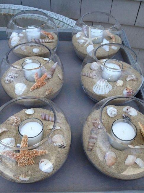 Centros de mesa para boda en playa 6