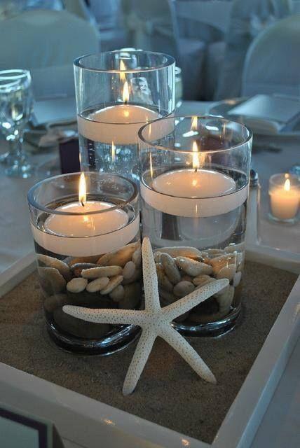 Centros de mesa para boda en playa 7