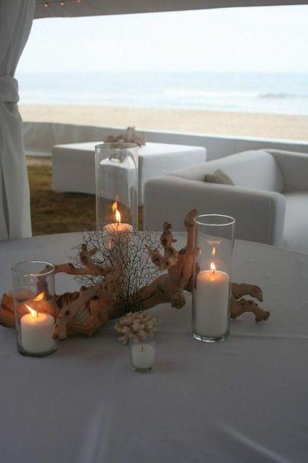 Centros de mesa para boda en playa 9