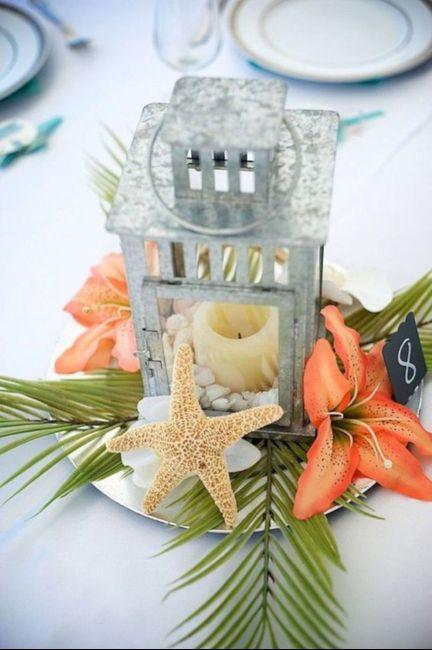 Centros de mesa para boda en playa 12