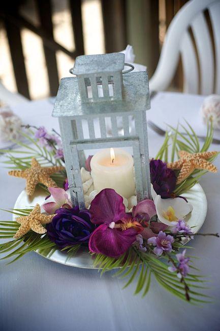 Centros de mesa para boda en playa 15