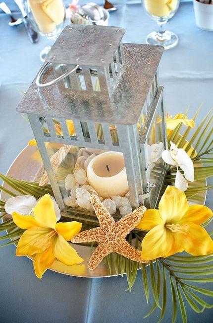 Centros de mesa para boda en playa 18