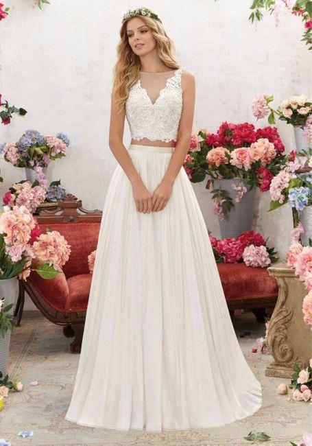 Vestido de novia de 2 piezas 👰🏻 2