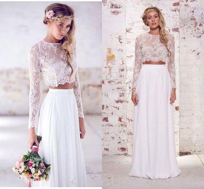 Vestido de novia de 2 piezas 👰🏻 3