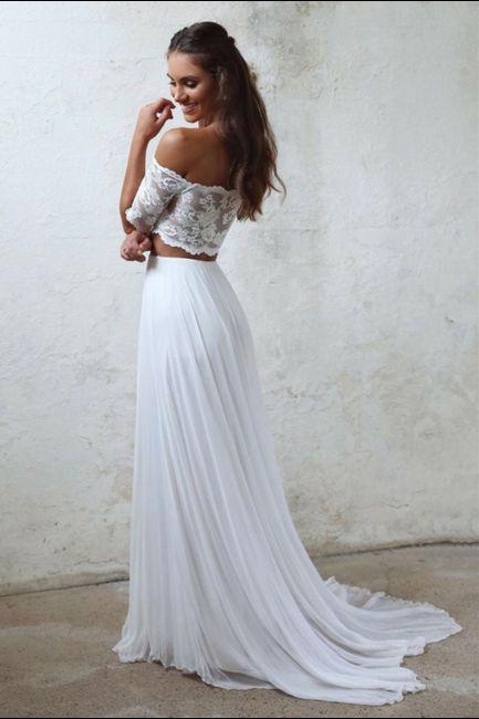 Vestido de novia de 2 piezas 👰🏻 8